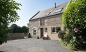 Coldstream Coach House - access door & shared courtyard