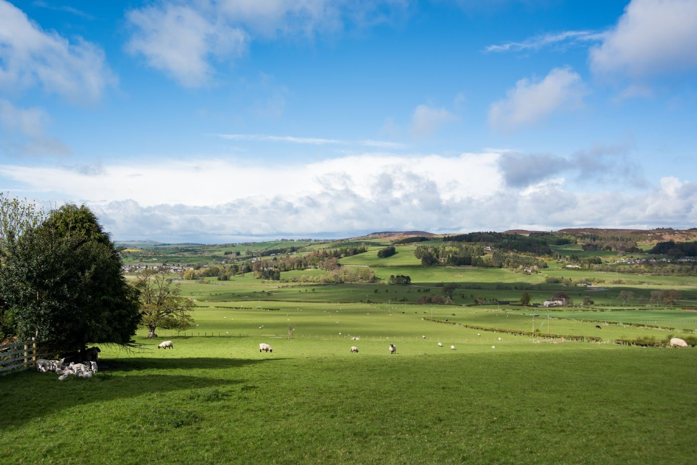 The breathtaking views over the rich Northumbrian countryside offer a true sense of escapism.