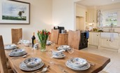 Croft House - dining table & kitchen