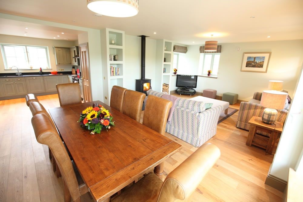 Dignity - dining area, kitchen & seating area
