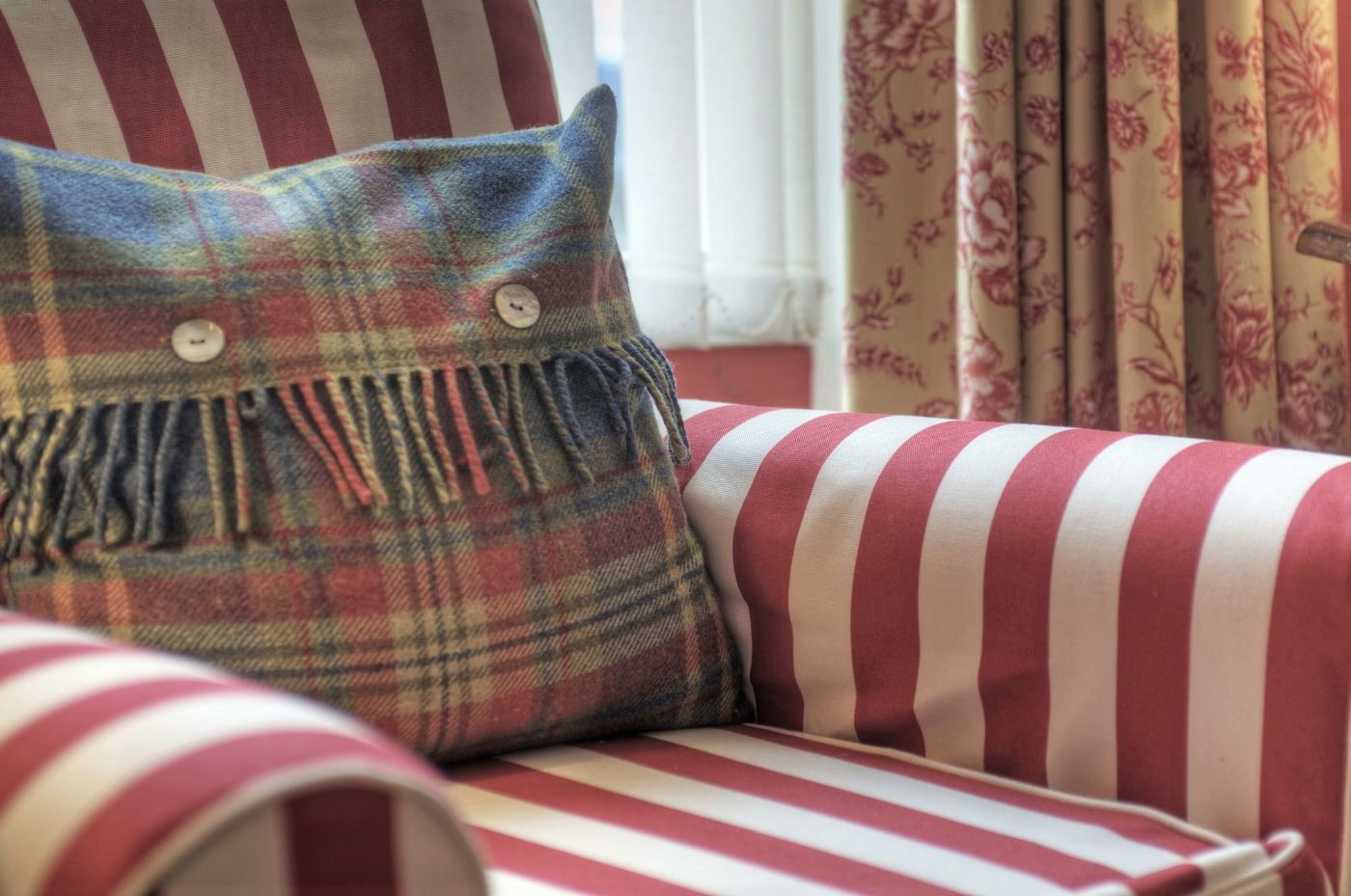 Earsdon House - sitting room cushion