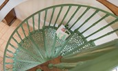 East Cottage - spiral staircase