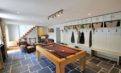 The smart pool table in the games room will keep all members of the party entertained.