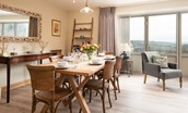 Old Granary House - bright open-plan living space with spacious dining area and access to the patio from the large bi-folding doors