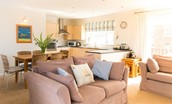 Farne View - open plan living area