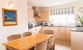 Farne View - kitchen & dining area