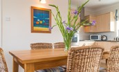 Farne View - dining table