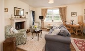 Gamekeeper's Cottage - sitting room & dining area