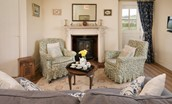 Gamekeeper's Cottage - sitting room with garden access door
