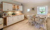 Gardener's Cottage - kitchen & dining area