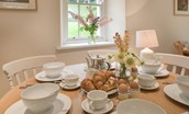 Gardener's Cottage - dining table