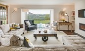 Granary - sitting room with view of Eildons