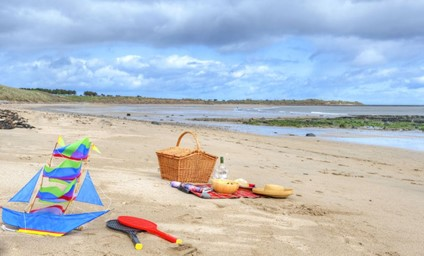 Building sandcastles, flying kites or even enjoying a good book on Alnmouth Beach, which sits just at the bottom of the garden.