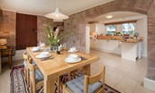 Holy Island Bay Byre - dining area & kitchen
