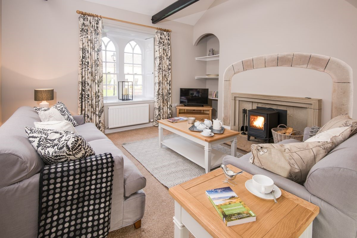 A bracing morning walk on the beach then back to this lovely cottage, the pale aquas and muted tones lend an air of peace and serenity, the perfect place to relax.
