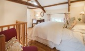 Middle Cottage - bedroom with beams