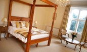 Middleton Hall - bedroom, with four poster bed