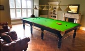 Middleton Hall - billiard room with billiard table