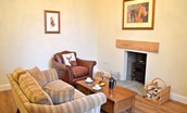 Middleton Hall Coach House - small lounge with wood burning stove