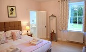 Middleton Hall Coach House - bedroom with en suite bathroom