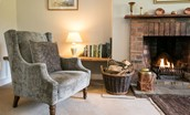 Milfield Hill Cottage - fireside