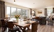 Old Granary House - open-plan living space filled with natural light streaming in from the bi-folding doors
