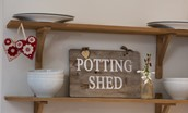 The Potting Shed - signage
