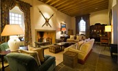 Fenton Tower in East Lothian - The Great Hall for relaxation in front of a roaring open fire