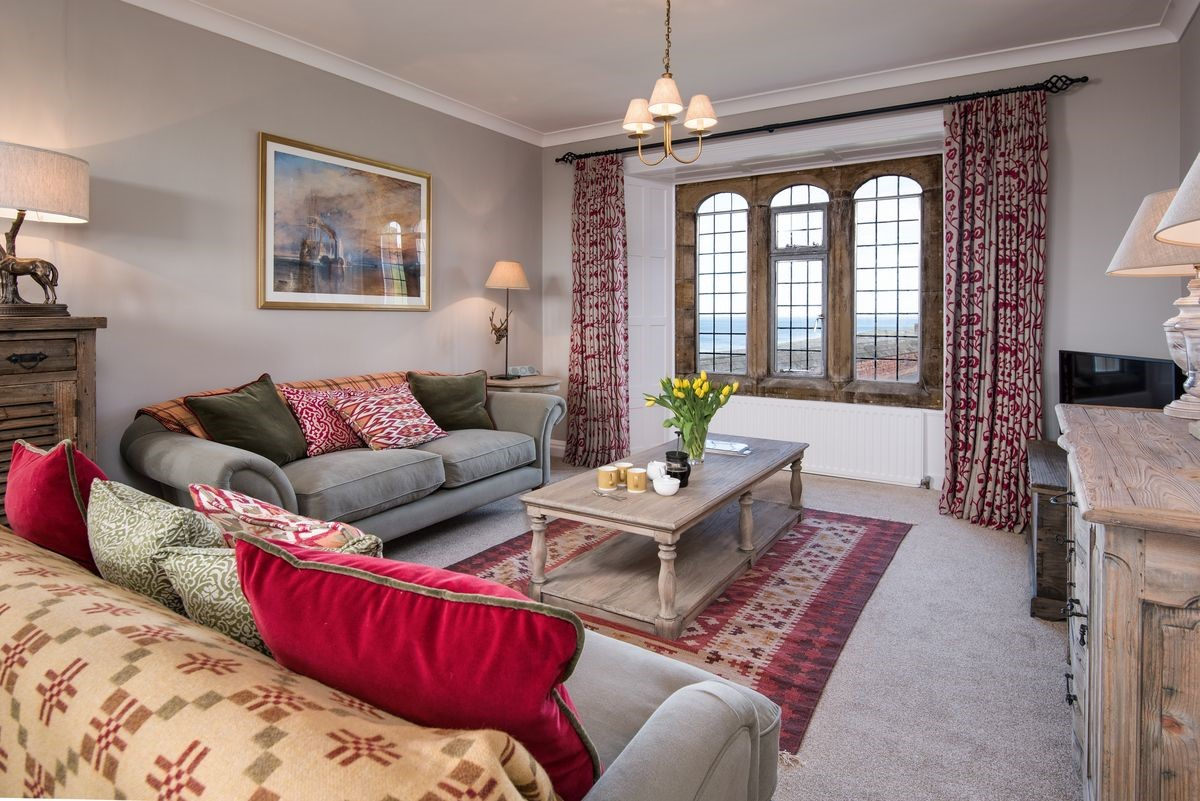 Neville Tower - sitting room with sea views