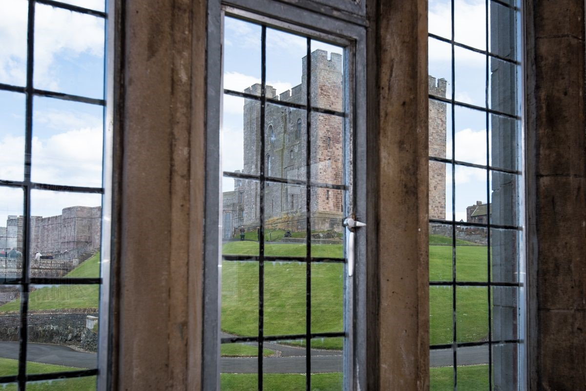 Neville Tower - view of castle from sitting room