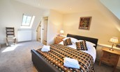 Old Mill Cottage - bedroom one with double bed