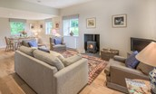 Pathhead Farmhouse - sitting room with wood burning stove