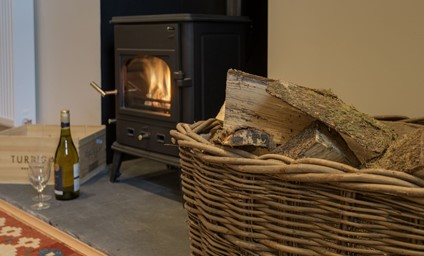 Relaxing in front of the wood burning stove after a busy day exploring the stunning Borders countryside.
