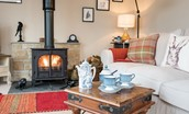 Pennine Way Cottage - fireside