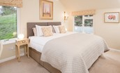 Pennine Way Cottage - bedroom with double bed