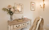 Pennine Way Cottage - dressing table close up