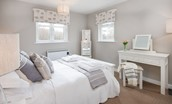 Sandhills - bedroom one with double bed