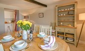 St Aidan's Lodge - dining table & kitchen access