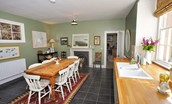 Steward's House - kitchen & dining table