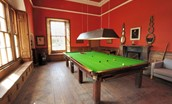 Steward's House - shared billiard room