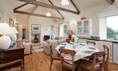 Teddy's Cottage - kitchen & sitting room
