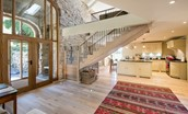 The Barn - entrance hall & kitchen