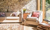 The Barn & The Cowshed - sitting room