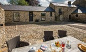 The Barn & The Cowshed - courtyard & outside seating area