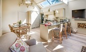The Barn & The Cowshed - open plan living space