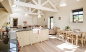 The Barn & The Cowshed - The Cowshed kitchen & dining area