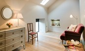 The Barn & The Cowshed - seating area in bedroom seven