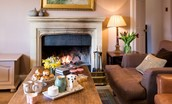 The Boathouse - sitting room fireside
