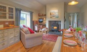 The Bothy at Reedsford - sitting room & dining space