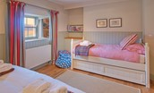 The Bothy at Reedsford - bedroom two single bed with truckle